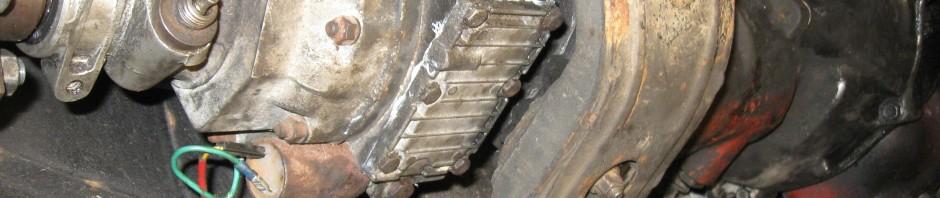 Växellåda under bil
