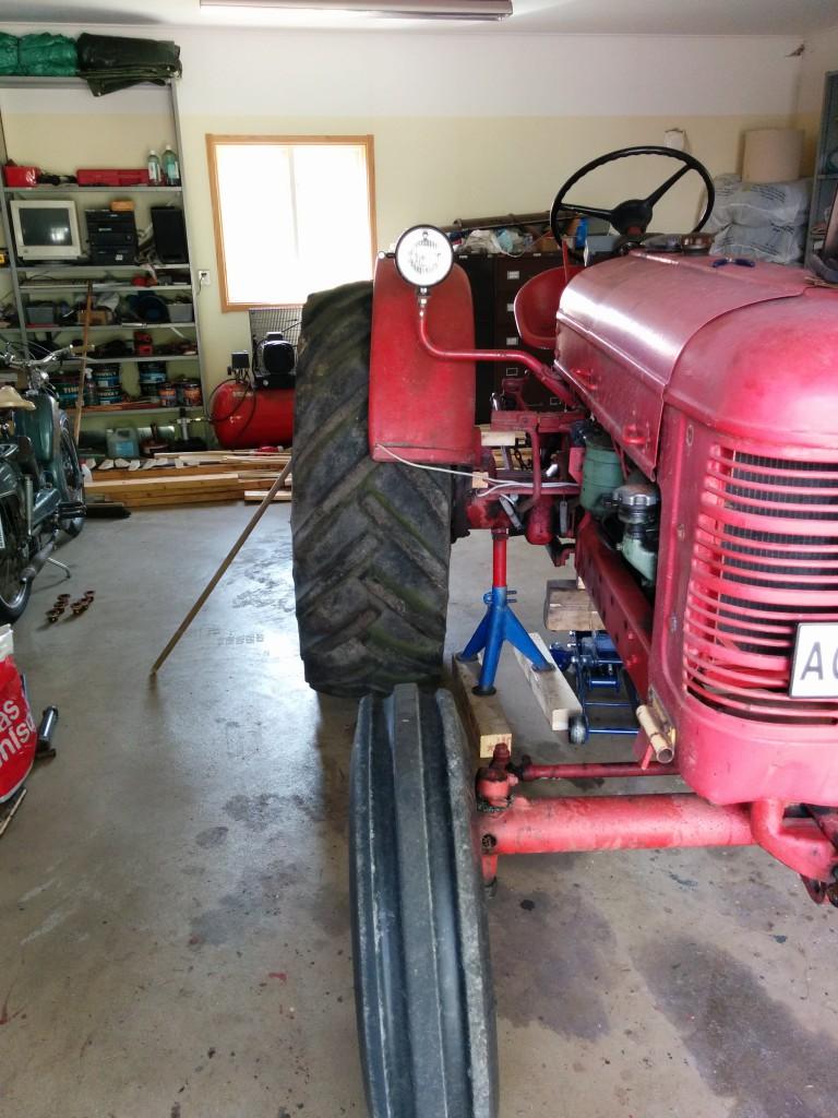Test av traktordäck